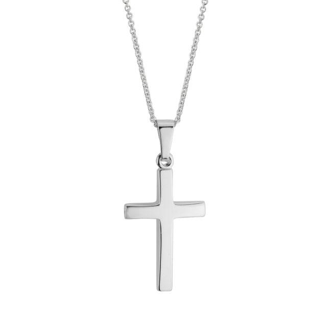 14G solid cross pendant