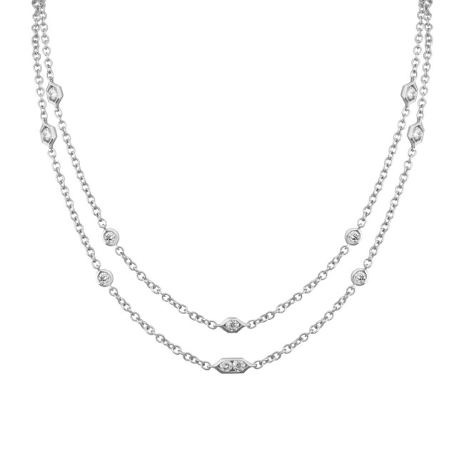 18in diamond necklace white gold