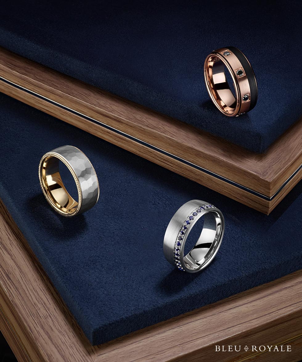 Bleu Royale rings