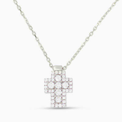 Frederic Sage Diamond Cross Necklace
