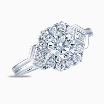 Frederic Sage Hexagon Diamond Engagement Ring