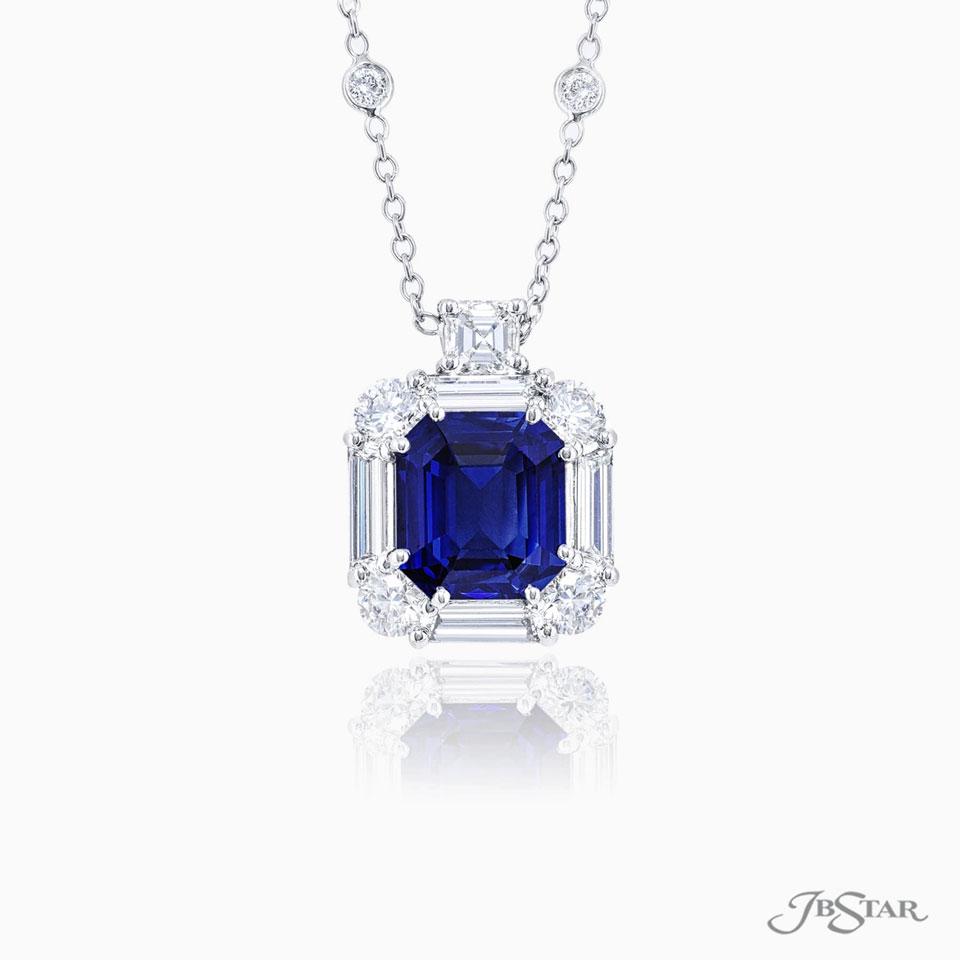 JB Star Sapphire Diamond Pendant