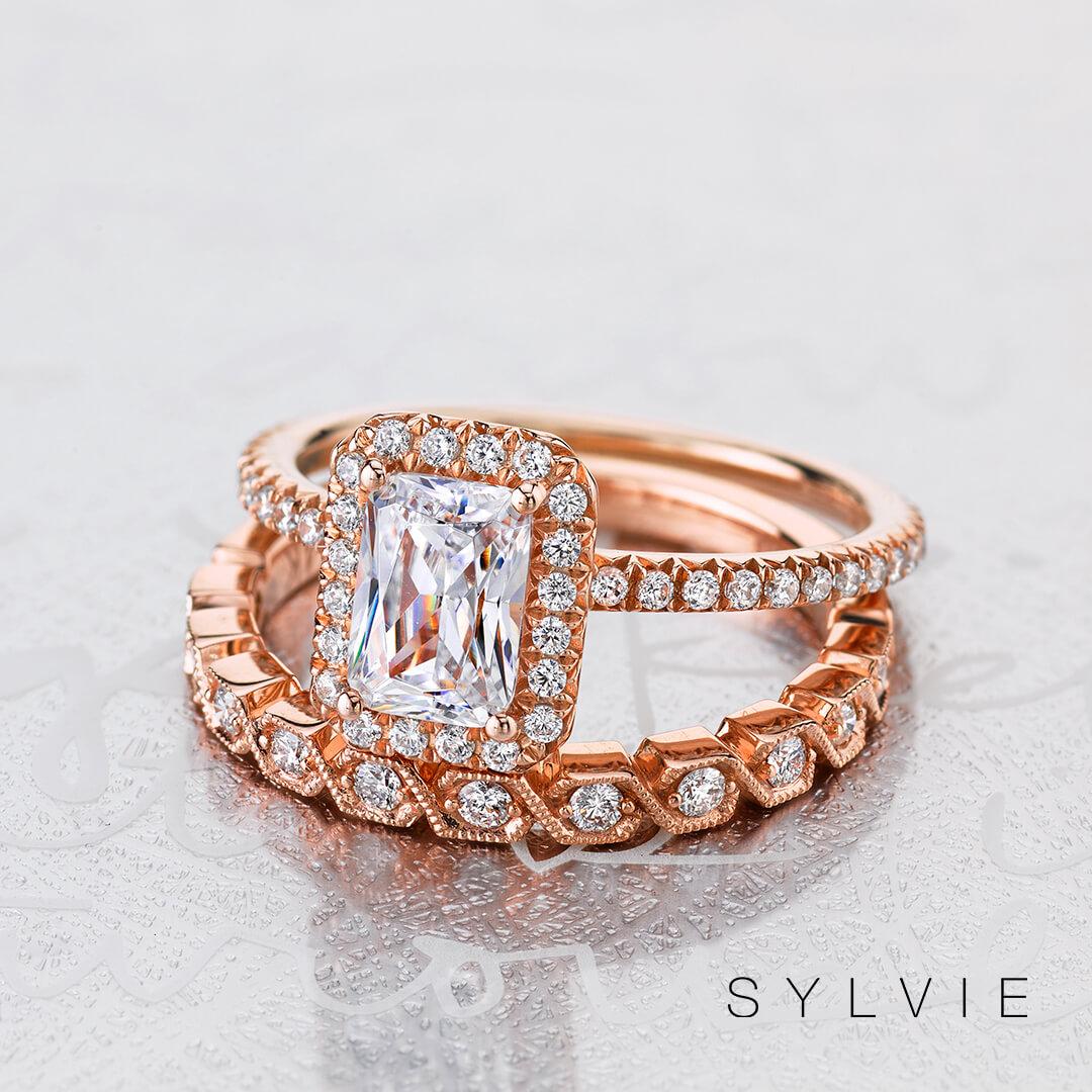 Sylvie Halo ring