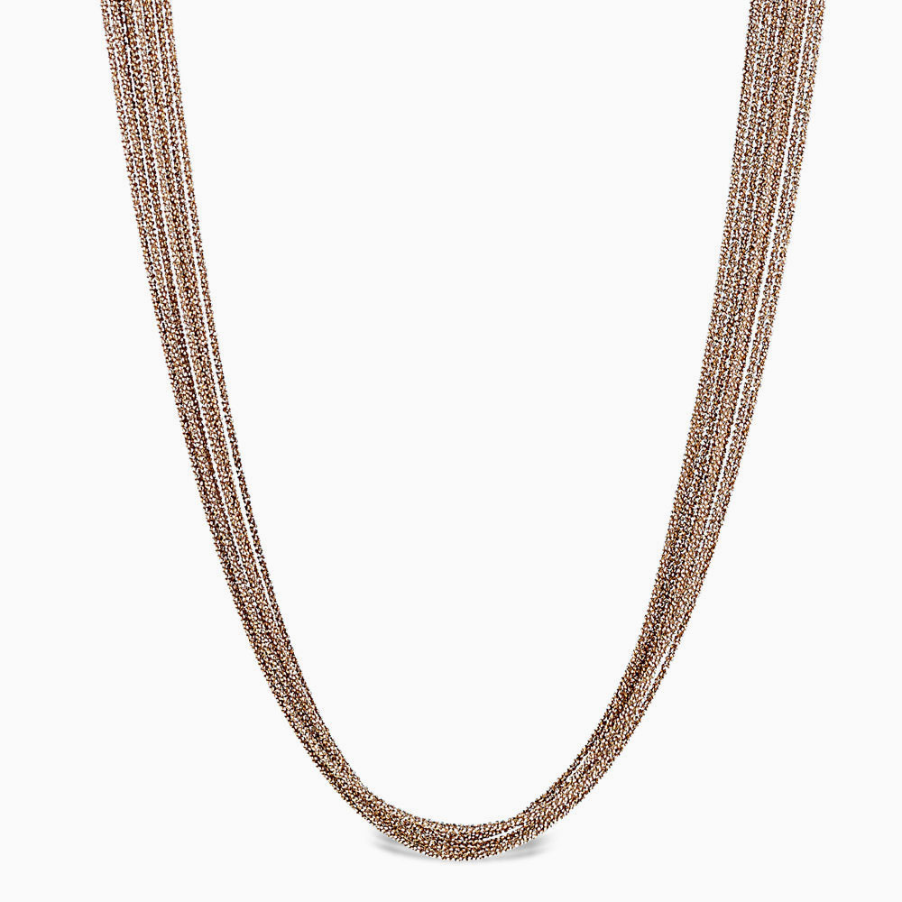 Peter Storm 10 strand gold necklace
