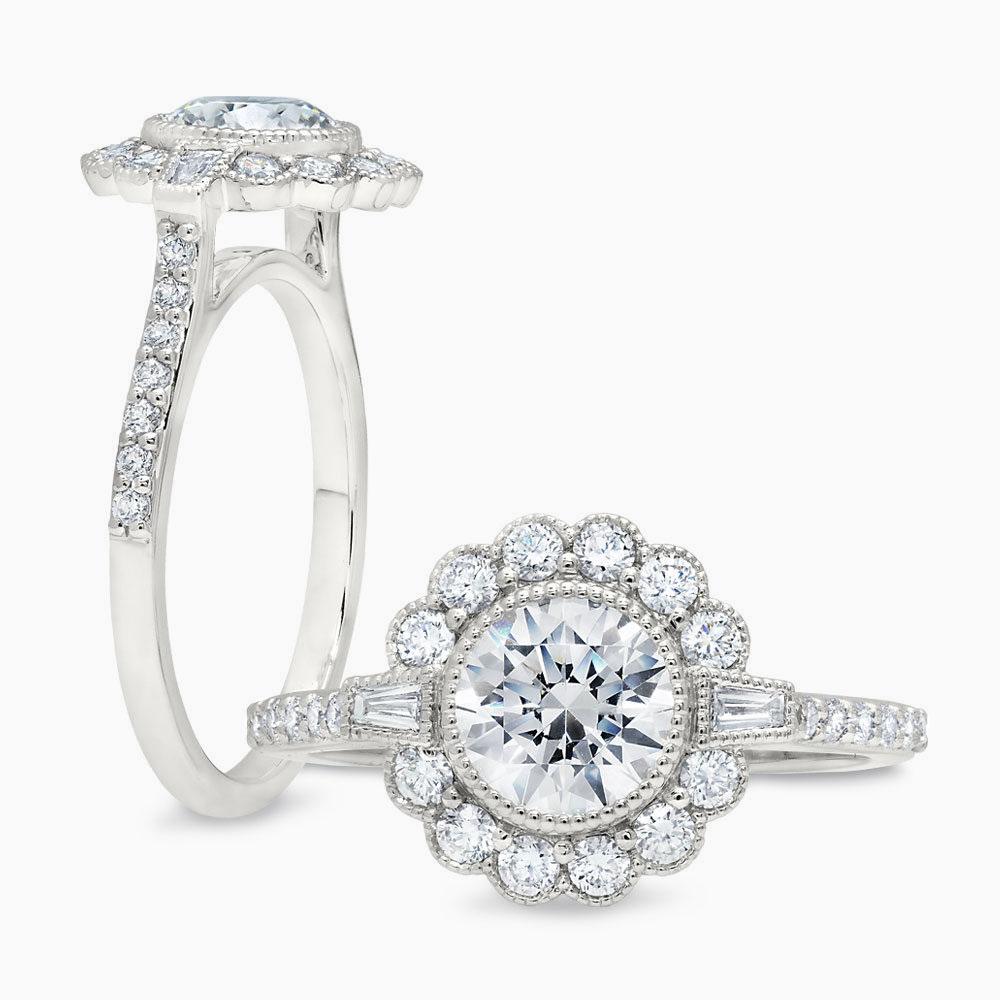 Peter Storm Flower Halo Diamond Ring
