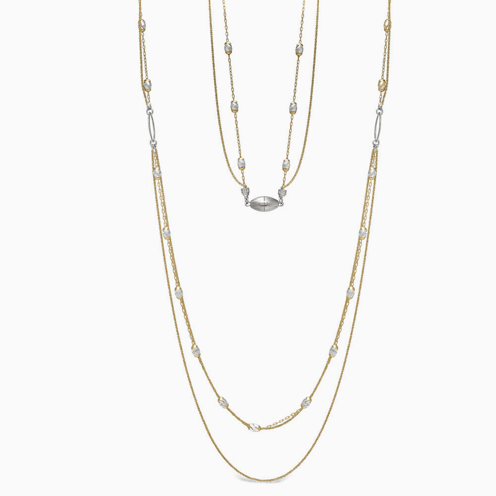Peter Storm silver yellow bead necklace