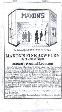 Maxon's Fine Jewelry Battlefield Mall advertisement