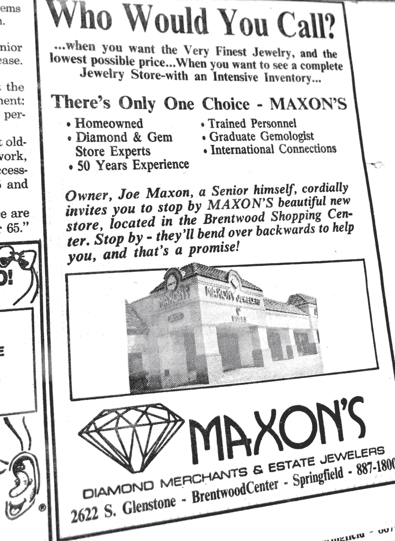 Who Would You Call? Maxon's advertisement
