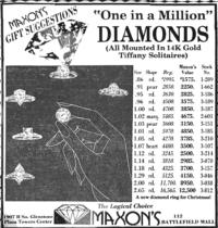 """One in a Million"" Diamonds advertisement"