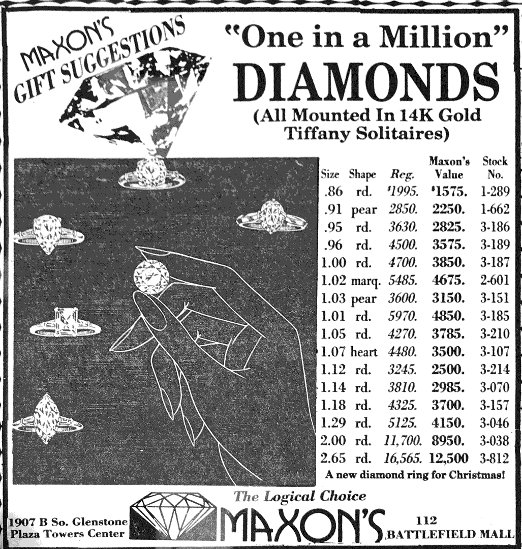 """One in a Million"" Diamonds advertisement"