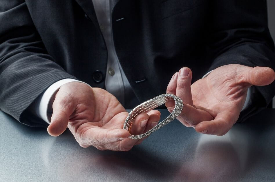 Inspecting-Diamond-Bracelet