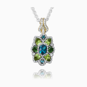Vahan London Blue Topaz Necklace