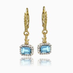 Vahan Sky Blue Topaz Earrings